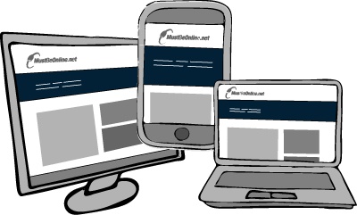 multiple screen sizes illustration